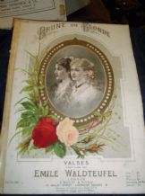 ANTIQUE SHEET MUSIC BRUNE OU BLONDE VALSES EMILE WALDTEUFEL + BLUE EYES CD BLAKE